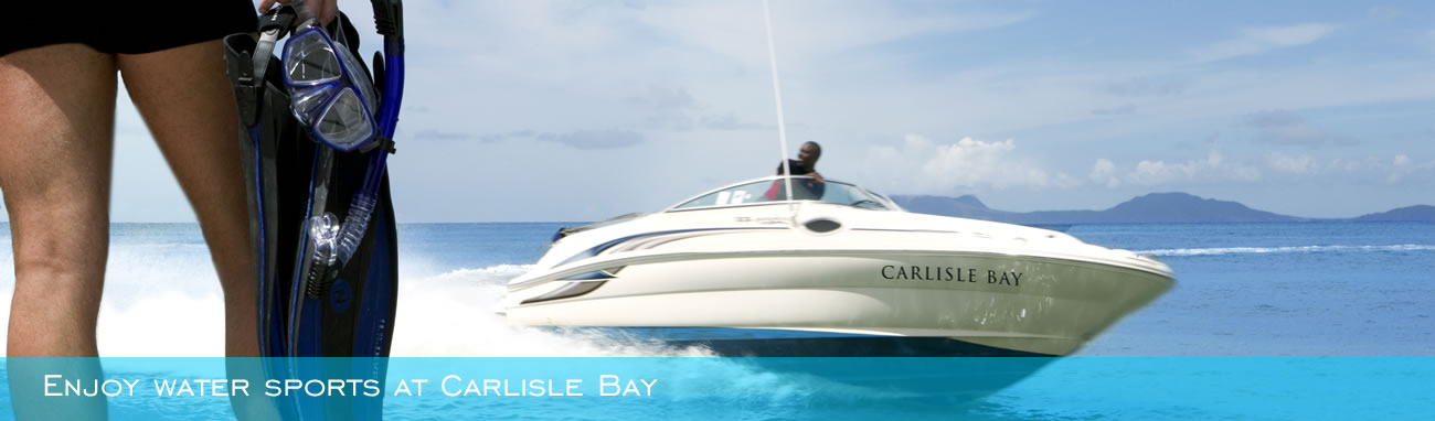 Enjoy water sports at Carlisle Bay