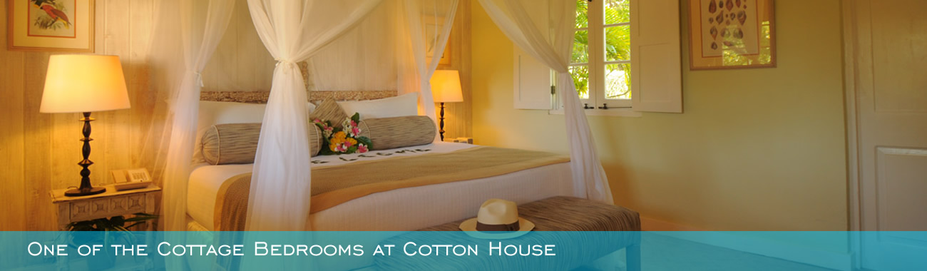 One of the Cottage Bedrooms at Cotton House