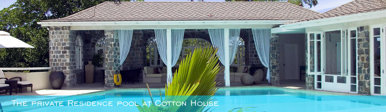 The private Residence pool at Cotton House
