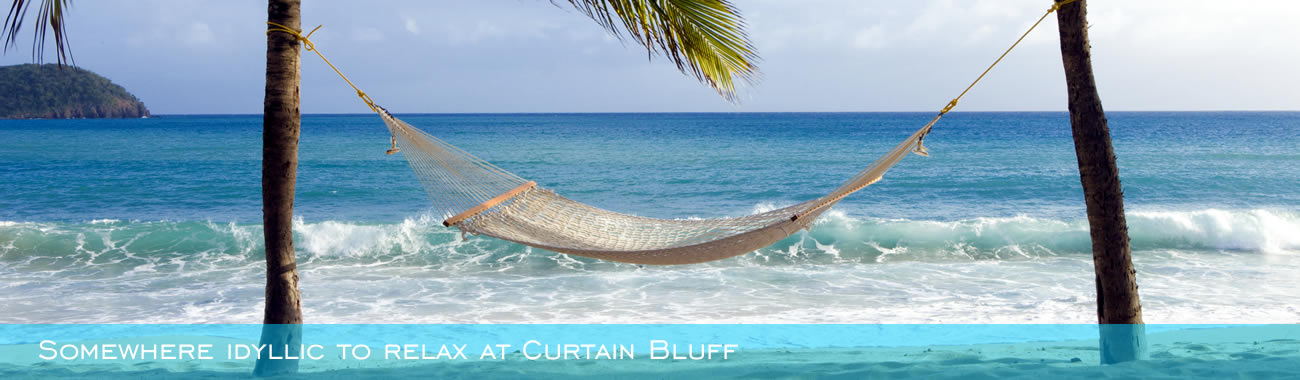 Somewhere idyllic to relax at Curtain Bluff