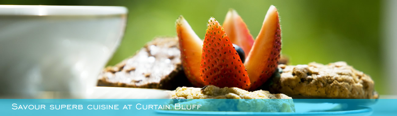 Savour superb cuisine at Curtain Bluff
