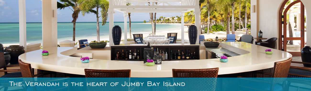 The Verandah is the heart of Jumby Bay Island