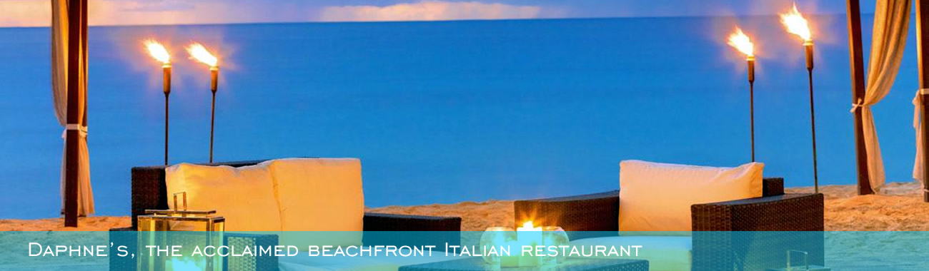 Daphne's, the acclaimed beachfront Italian restaurant made famous by its London counterpart